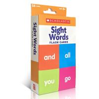 【全店300减100】英文原版 Flash Cards: Sight Words 视觉词 富有色彩的双面闪卡 亲子互动英