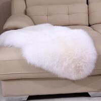 整张羊皮纯羊毛地毯床边皮毛一体羊毛沙发垫飘窗坐垫北欧