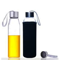 550ML耐�岵A�水瓶��意��d玻璃杯子�V泉水瓶���w茶杯便�y水杯杯子女透明水瓶�W生�\�幽许n版��意潮流�S手杯