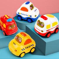 宝宝玩具车男孩回力车惯性车工程车儿童挖掘机小汽车挖土机套装