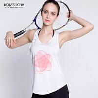 【限时抢购价】Kombucha运动健身背心女士速干透气美背长款运动背心跑步健身运动宽松罩衫K0262