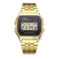 卡西欧手表时尚复古金色男女学生电子表防水中性表A159WGEA-1D
