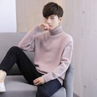 高领毛衣男秋冬季宽松保暖针织衫学生纯色修身长袖韩版打底衫
