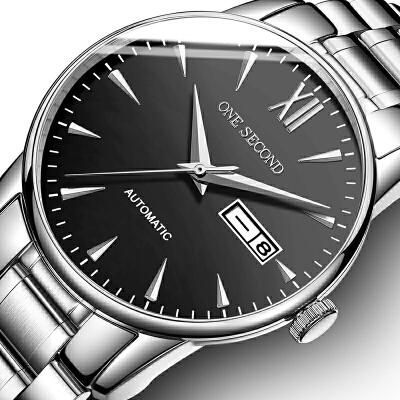 手表男机械表全自动精钢带镂空薄男士手表