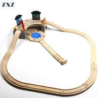 木制火车轨道积木拼装儿童玩具 磁性托马斯小火车轨道 联系客服