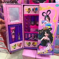 捷雅妮 叶罗丽娃娃彩妆 女孩化妆品手提箱眼影盒套装儿童美甲玩具