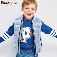 【3件4折 到手价:239】Pawinpaw宝英宝卡通小熊童装男童短款羽绒马甲中小童上衣