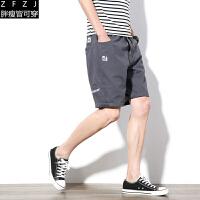休闲短裤男士2017夏装新款加肥大码五分裤运动韩版潮流夏天男裤子