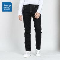 [限时抢:99元,真维斯狂欢再续10.18-21]真维斯男装 冬装 时尚修身加绒牛仔裤