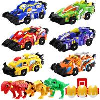 新奇暴龙战车男孩爆裂恐龙蛋霸王龙变形飞车玩具