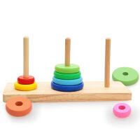 木制汉诺塔游戏儿童通关玩具小学生逻辑思维训练河内塔