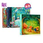【中商原版】Usborne立体童话绘本4册 英文原版 Pop-up Fairy Tales 灰姑娘 睡美人 白雪公主