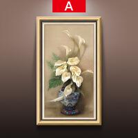 玄关装饰画竖版过道走廊挂画风水客厅餐厅简欧单幅欧式油画发财树SN6830 74*124 单幅价格