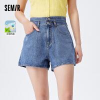 森马牛仔短裤女时尚A字显高显瘦网红潮流2021夏季新款经典学院