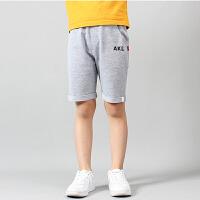 儿童短裤 男童棉质条纹字母五分裤2019夏季新款韩版时尚休闲运动学生中大童款式裤子