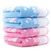 三利 毛巾家纺 小兔儿童毛巾四条装