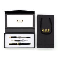 英雄实业永生钢笔688C 3件套装经典黑 明尖暗尖铱金钢笔美工笔宝珠笔签字笔 学生成人办公书法练字墨水笔礼品钢笔