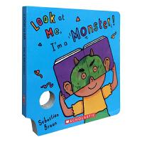 【顺丰速运】英文进口原版 Look At Me book I'm A Monster 趣味面具洞洞纸板书吴敏兰书单 亲