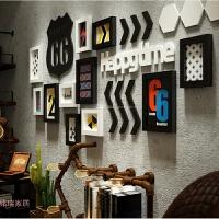 欧式实木相框组合酒吧沙发相片背景装饰楼梯墙面相框墙创意照片墙 2453 黑白两色+克鲁画芯