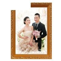 实木欧式挂墙相框摆台7 8 10 12 A4 18 20 30寸婚纱照片拼图画框