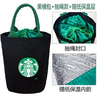 保温装饭盒袋便当包手提袋帆布包圆形带饭学生手拎袋子大号
