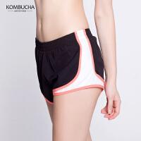 【限时狂欢价】Kombucha瑜伽短裤2018新款女士速干透气防走光健身跑步运动短裤热裤K0266