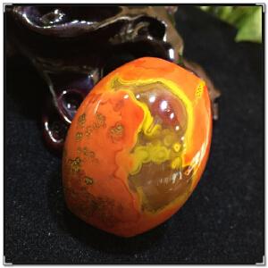 天然玛瑙原石珠子,战国红大桶珠项坠6-5TQYS035