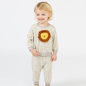 戴维贝拉春秋儿童新款休闲套装 宝宝卡通套装DBZ6301