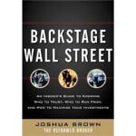 【正版直发】Backstage Wall Street Joshua M. Brown(乔舒亚.M.布朗) 97800
