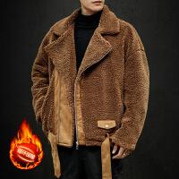 冬装2019新款棉衣男冬季羊羔绒棉服加绒加厚袄子冬天棉袄男士外套