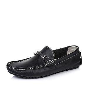 BASTO/百思图夏季专柜同款牛皮男休闲鞋AXZ01BM6