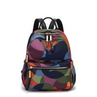 牛津布双肩包女士209新款包包尼龙旅行休闲小背包时尚韩版百搭复古潮流简约 花色