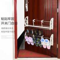 免打孔门后鞋架挂式家用多功能简易收纳置物架进门鞋架防盗门壁挂