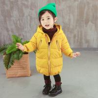 冬季儿童羽绒男童女童宝宝棉衣中小童中长款连帽加厚外套棉袄
