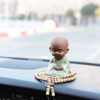 创意小和尚保平安汽车摆件车载上车内装饰品摆件用品车饰可爱公仔