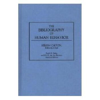 【预订】The Bibliography of Human Behavior 美国库房发货,通常付款后3-5周到货!