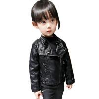 女童皮衣宝宝开衫小孩童装3岁4洋气夹克春装新款儿童外套