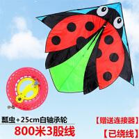 瓢虫风筝 风筝儿童卡通风筝新款风筝线轮昆虫风筝易飞