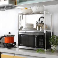 厨房置物架 厨房微波炉架子 置物架 电器层架支架不锈钢伸缩调节收纳架鞋架