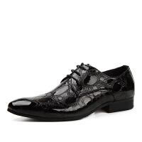 DAZED CONFUSEDU 韩版男士皮鞋男尖头商务正装时尚漆皮婚鞋潮流亮皮单鞋男鞋子