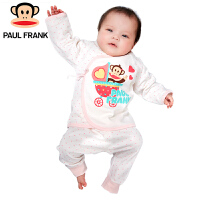 TWU2173103大嘴猴(paul frank)婴儿纯棉长袖内衣 女童 系带套装