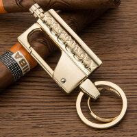 钥匙扣 男 时尚个性点烟器腰挂 抖音万次火柴打火机锁钥扣 BC-682 金色