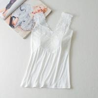 女士白色蕾丝抹胸文胸打底吊带背心裹胸长款带胸垫防走光性感内衣 均码