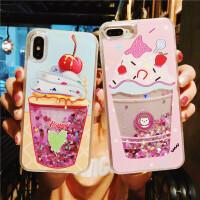 流沙夏日小清新苹果7/8plus手机壳iPhone6s硅胶套x女款个性创意六