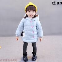 冬季女童冬装儿童1加绒2加厚3外套装0-4岁女宝宝小女孩子衣服棉冬装潮秋冬新款