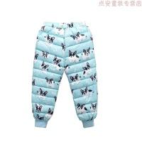 冬季童装儿童羽绒棉裤男女童宝宝内胆加厚保暖婴儿外穿高腰长棉裤