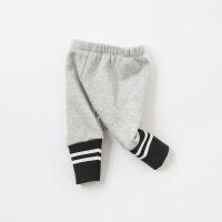 加绒戴维贝拉秋冬新款加厚休闲打底裤DB8549