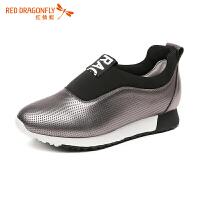 红蜻蜓女鞋 新款运动休闲鞋女韩版青春学生内增高潮鞋女鞋