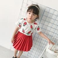 宝宝可爱印花T恤夏装新款儿童胡萝卜打底衫女童甜美短袖上衣