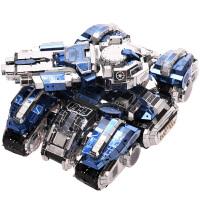 3D立体拼图模型拼装玩具星际坦克不锈钢高难度手工DIY
